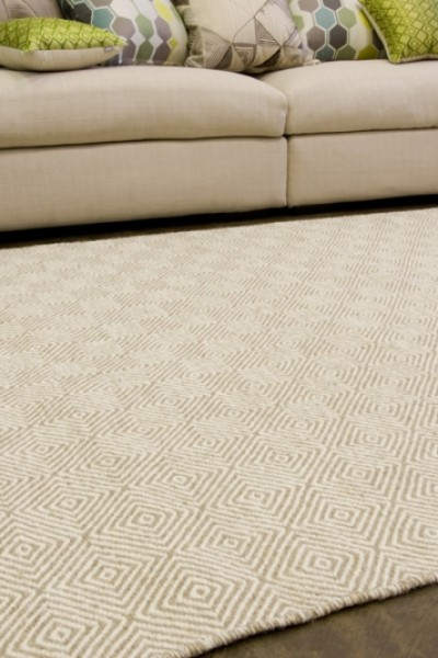 Braid Diamond Runner- Natural/beige